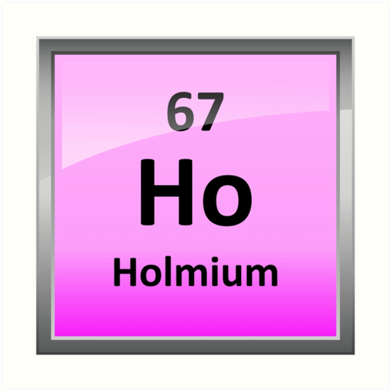 Holmium Or Ho Periodic Table Element Symbol Art Prints By