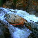 The Spirit Boulder at Livermore Falls by Wayne King