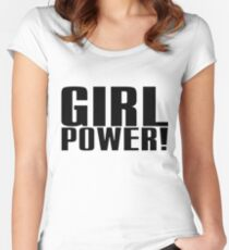 Girl Power (Black) Women's Fitted Scoop T-Shirt