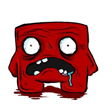 Grotesque Super Meat Boy by GetFrankered