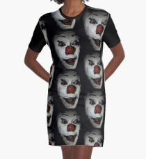 IT face Graphic T-Shirt Dress