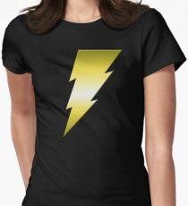 Golden Thunderbolt Womens Fitted T-Shirt