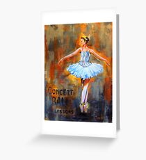 City Ballet Greeting Card