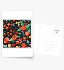 Flowers and hearts Postcards