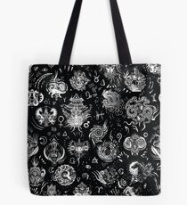 Witchy dragons Tote Bag
