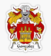 Gonzalez Coat of Arms/Family Crest Sticker