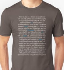 So Many Languages, So Little Time - Nerd / Code Shirt - Dark Unisex T-Shirt