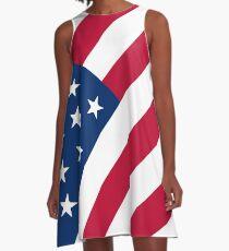 USA A-Linien Kleid