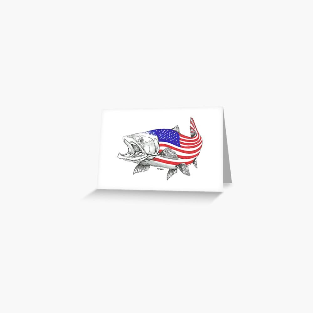 American Steel Head Salmon Tarjetas de felicitación