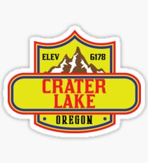 CRATER LAKE NATIONAL PARK OREGON MOUNTAINS HIKING CAMPING HIKE CAMP BOATING FISHING Sticker