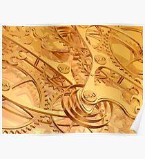 Clockwork background Poster
