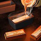 Gold ingot casting by Paul Fleet