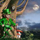Leprechaun at night by Paul Fleet