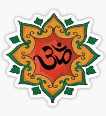 """Om"" India, Hindu, Hinduism T-Shirt Sticker"