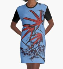 Japanese Maple Graphic T-Shirt Dress