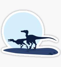 Raptors-Swift Dune Seas of Djadochta Sticker