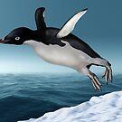 Adelie Penguin by Paul Fleet