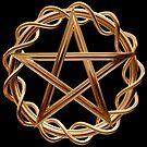 Golden pentagram by Paul Fleet
