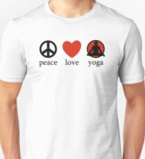Peace Love Yoga T-Shirt Unisex T-Shirt