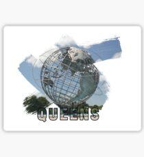 Queens, New York Grunge Logo Sticker