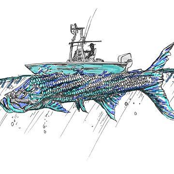 Sábalo y pescador de Statepallets