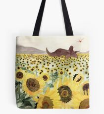 Cretaceous Period Sunflower Field Tote Bag