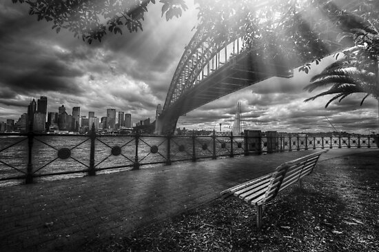 Sun rays by the bridge by mellosphoto