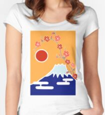 Mount Fuji in Spring Women's Fitted Scoop T-Shirt