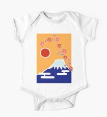 Mount Fuji in Spring One Piece - Short Sleeve