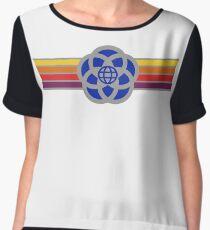 Old Epcot Logo Tee Shirt Chiffon Top