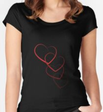 Interlinked Hearts Women's Fitted Scoop T-Shirt