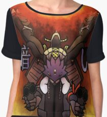 Beelzemon + Blackwargreymon Women's Chiffon Top