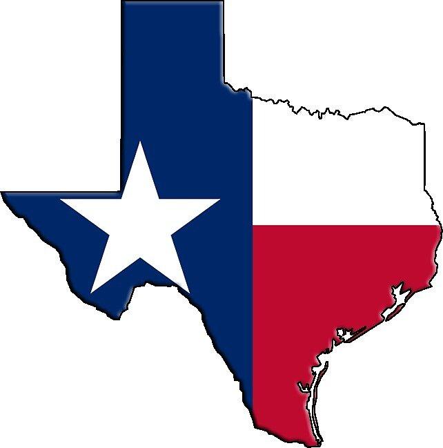 Texas State Flag & Outline by Davedinho