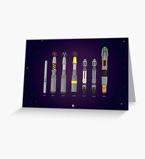 Sonic Screwdriver collection Greeting Card