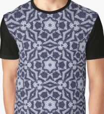 Knitted Tiles Pattern Graphic T-Shirt