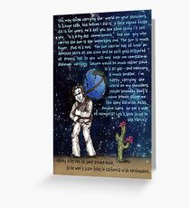 Weight of the World on His Shoulders Greeting Card