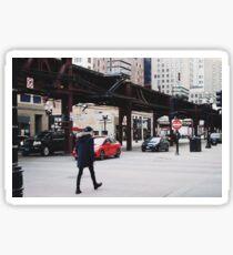 Chicago CTA Downtown. Sticker