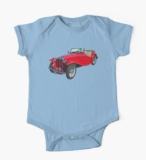 Red MG Convertible Antique Car Kids Clothes