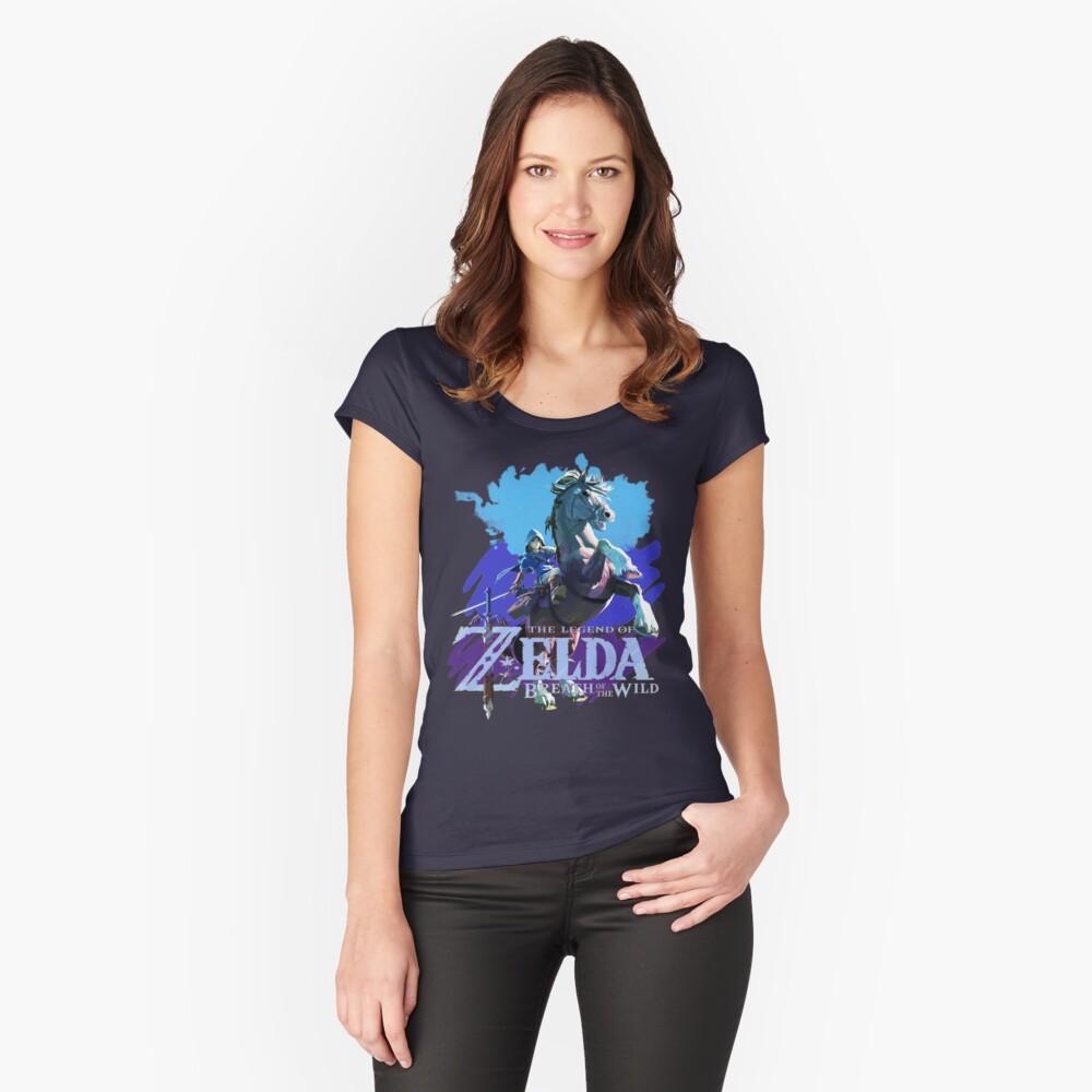Legend of Zelda: Breath of The Wild Women's Fitted Scoop T-Shirt Front