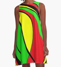 Jamaica decorative design by Moma A-Line Dress