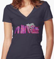 Literary Naps Women's Fitted V-Neck T-Shirt