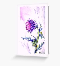 Thistle- Watercolor Greeting Card