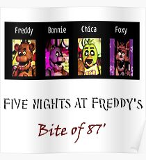 Five Nights at Freddys 2 Design & Illustration Posters | Redbubble