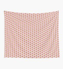 Heart with Bow Emoji Wall Tapestry
