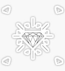 DIAMONDS - white vrs. Sticker