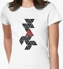 Flattened D20 - Dungeons and Dragons - Critical Role Fan Design Women's Fitted T-Shirt