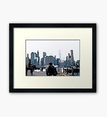 City Scene // Comic Style Framed Print