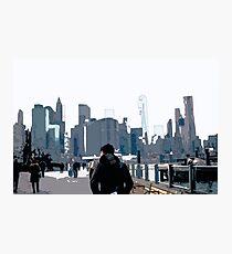 City Scene // Comic Style Photographic Print