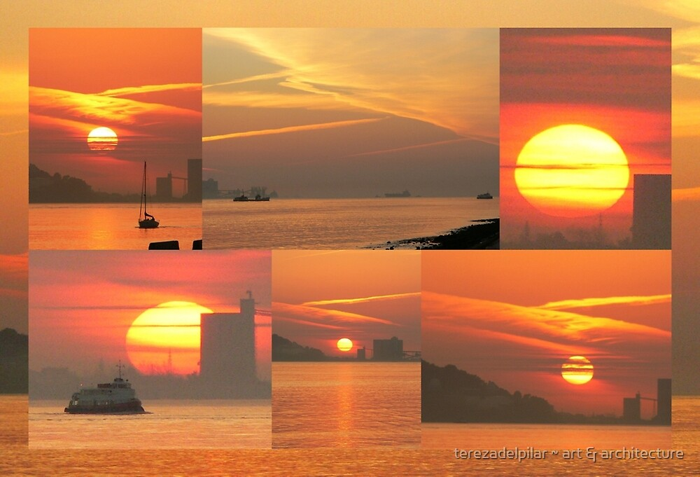 Sunset. Rio Tejo. by terezadelpilar ~ art & architecture