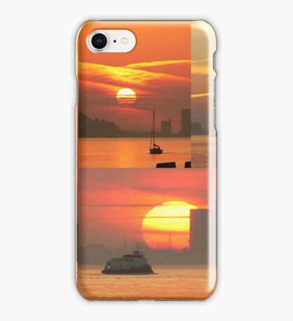 Sunset. Rio Tejo. iPhone Case/Skin